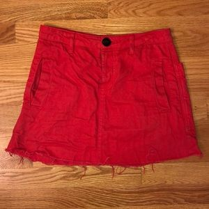 Urban Outfitters Red Denim Skirt